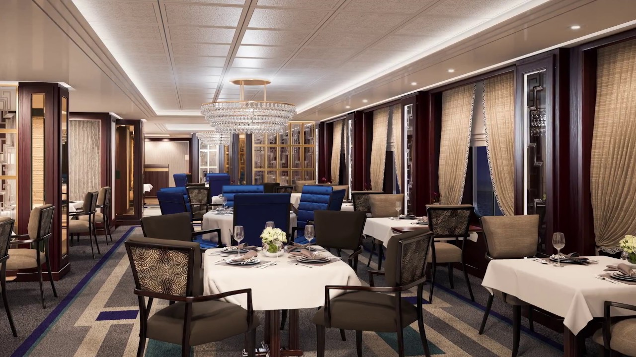 Queen Victoria Refit Britannia Restaurant Youtube