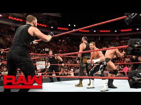 The Shield attack Braun Strowman, Drew McIntyre & Dolph Ziggler: Raw, Sept. 3, 2018