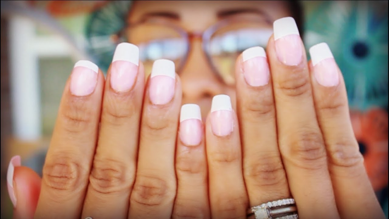 1 00 French Manicure Fake Nails