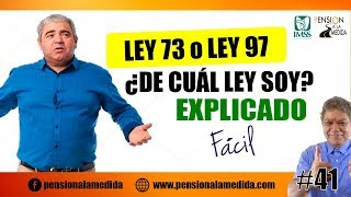 Ley IMSS 73 o 97 ¿De cuál Ley soy ? | Explicado fácil