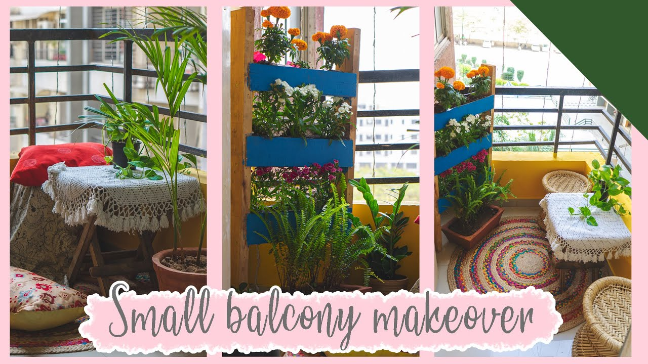 Small Balcony Makeover in Zero Budget !!