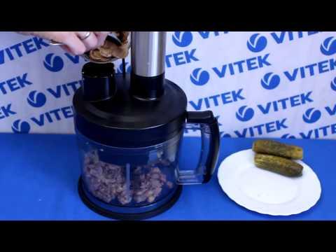 Рецепт приготовления салата с отварным языком в блендере VITEK VT-3401 BK