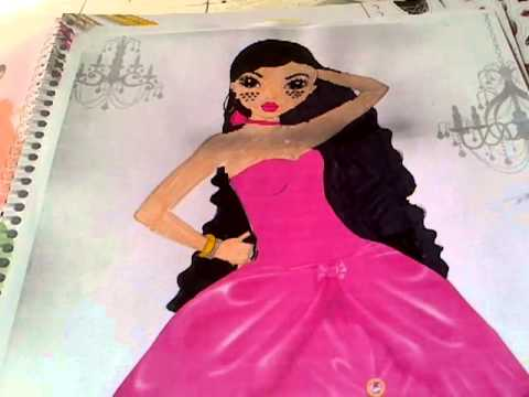 Mes premiers dessins de robe top model youtube - Photo de dessin top model ...