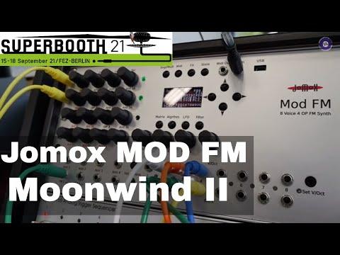 SUPERBOOTH 2021  Jomox MOD FM + Moonwind II