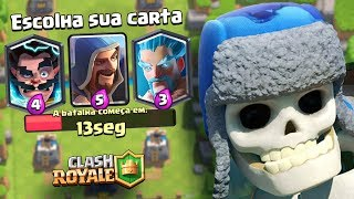 3 MAGOS NO DESAFIO DO ESQUELETO GIGANTE DO CLASH ROYALE