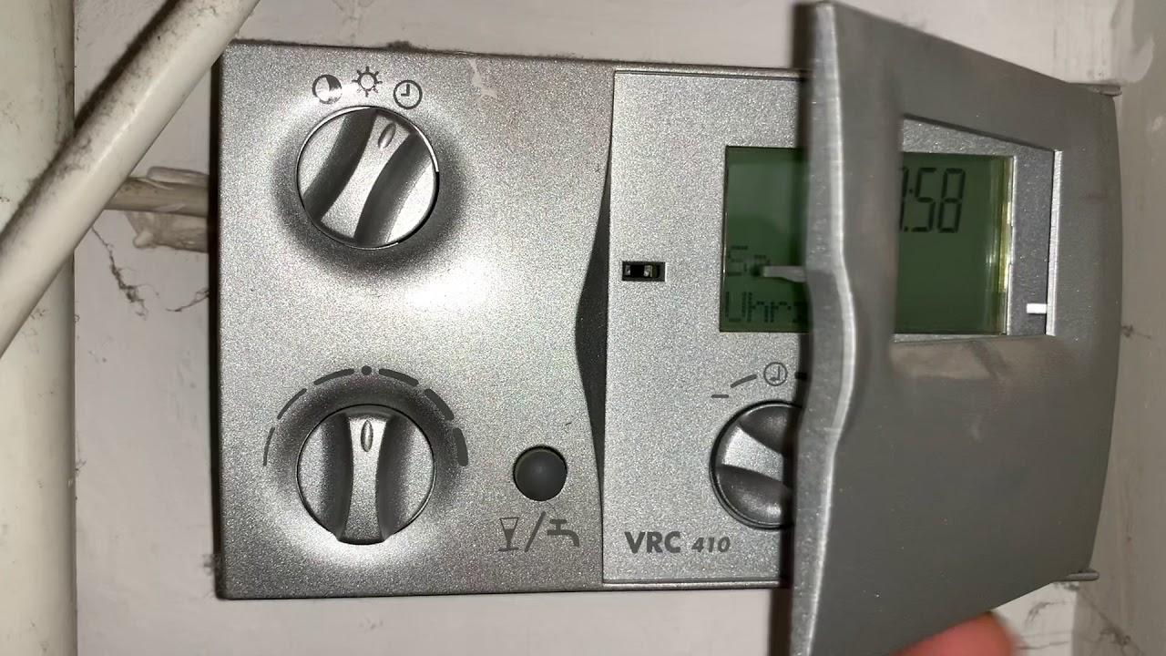 Vaillant Heizungsregler Einstellen Vrc 410 Bidirektional