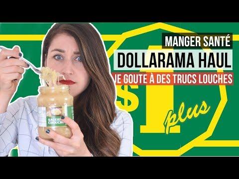 test-de-produits-santé-pas-cher-&-étranges-|-haul-1$-&-taste-test-dollarama