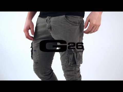 G26STOCKHOLM - SS17 - GRAY CARGO PANTS #01