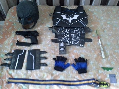 Awesome paper batman armor cosplay.
