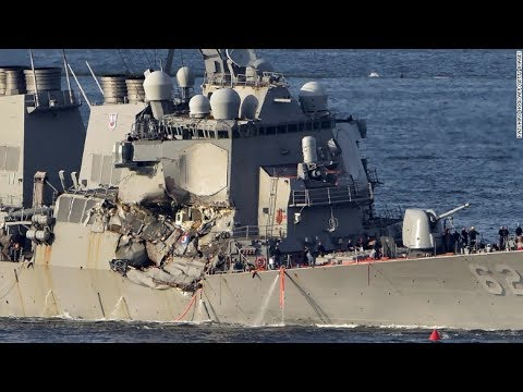 Missing sailors found dead inside Navy destroyer that collided with container ship