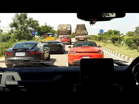 Supercars Blasting Through Highway in INDIA (Hyderabad)