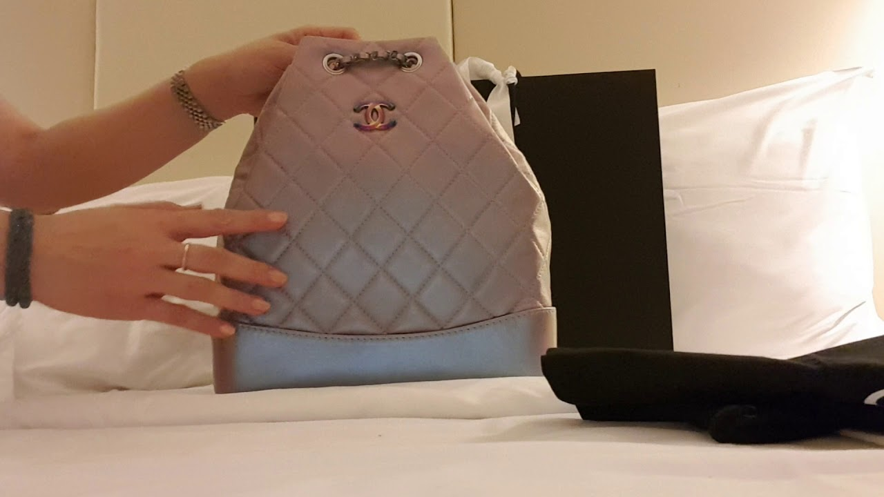 1fd15872945b CHANEL GABRIELLE BACKPACK - YouTube