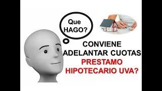 Conviene adelantar Cuotas de Prestamo Hipotecario UVA?