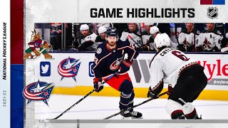 Coyotes @ Blue Jackets 10/14/21 | NHL Highlights