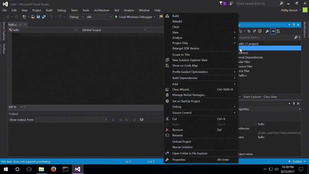 ANSI C - Visual Studio 2015