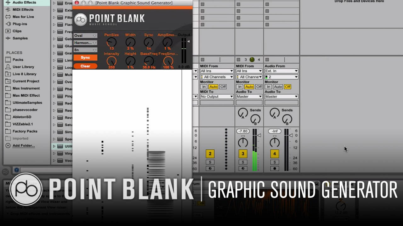 Ableton Live Graphic Sound Generator Free Max For Download Audio Signal Freeware Youtube