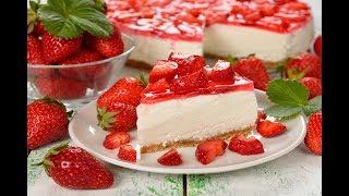 ЧИЗКЕЙК - |  Клубничный десерт | - ГОТОВЯТ ДЕТИ