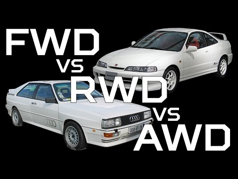 FWD VS. RWD VS. AWD
