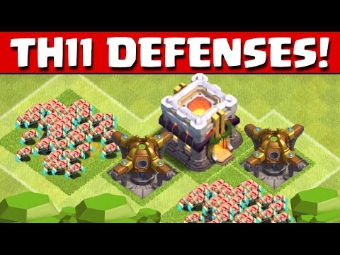 Clash of Clans - TOWN HALL 11 DEFENSES!