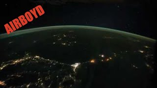 Night Pass Over Central Africa And The Middle East ISS