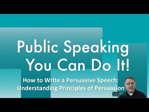 how to make an informative speech