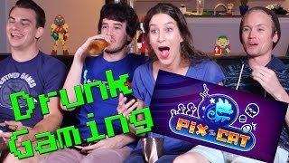 Drunk Gaming | Pix The Cat