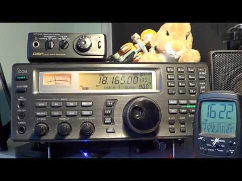 HB9CVQ Switzerland received on 17 meters Shortwave ham band