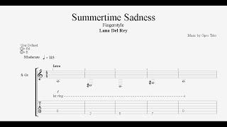 (lana del rey)  summertime sadness -v2. free tab