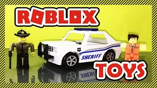 Roblox Toy Unboxing - The Neighborhood of Robloxia Patrol Car | Police Officer Dewey, Reporting