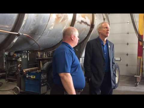 Illinois Governor Bruce Rauner visits Fairmont City