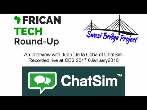 Interview with the co founder of ChatSim at #CES2017