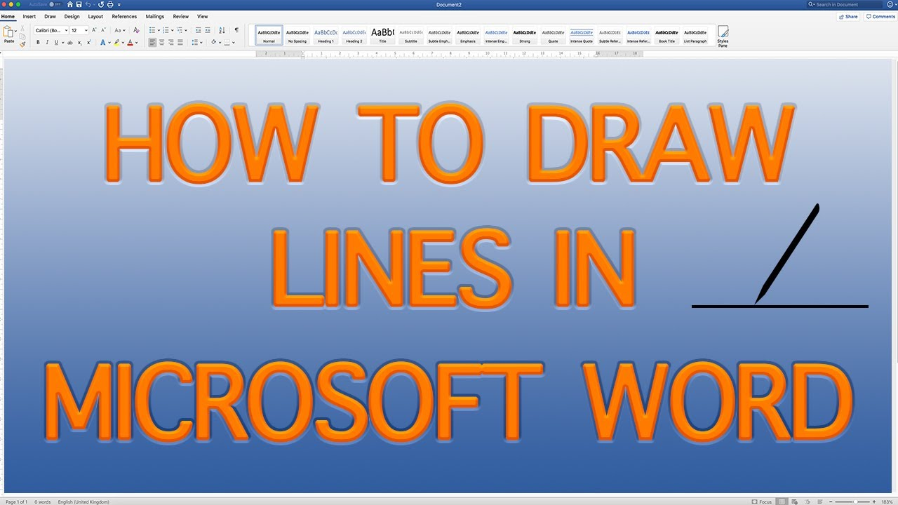 How To Draw Lines In Microsoft Word Draw Lines In Word Quick And Easy 2019 Youtube