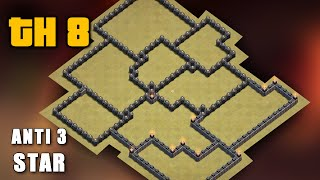 Clash Of Clans NEW TH 8 WAR BASE Town Hall 8 Anti 3 Star War Base Anti Gowipe Dragon Goho