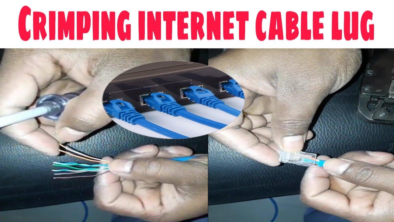 crimping internet cable connetor cat6 cat5 hindi rj45 network cable colour code mr murteja [ 1280 x 720 Pixel ]