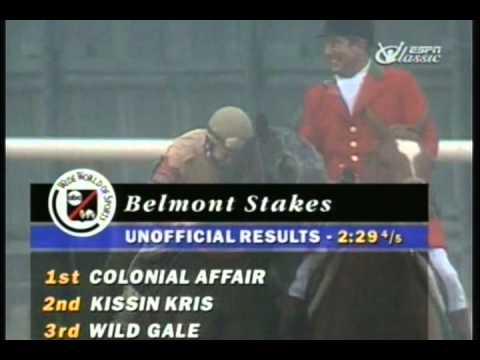 1993 Belmont Stakes - Colonial Affair & Julie Krone