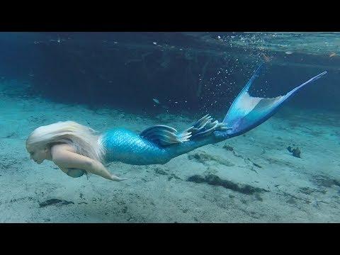 בת ים אמיתית נתפסת שוחה במעמקי הים.. (הוכחה שבנות ים קיימות)