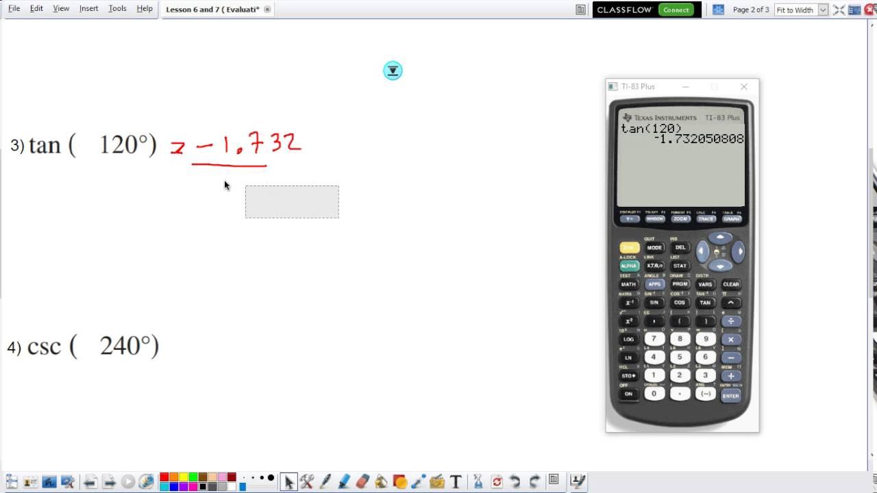Evaluating Trig Idenies Calculator