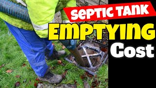 septic tank emptying cost