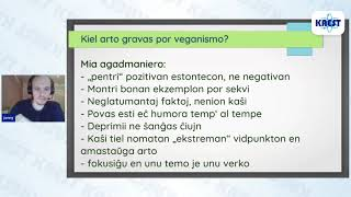 Kiel arto povas esti grava agadmaniero por veganismo – Jonas Marx | KAEST 2020