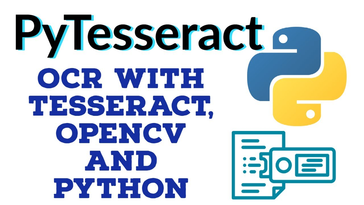 PyTesseract: Python Optical Character Recognition | Using Tesseract OCR with Python