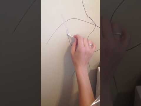How to get Sharpie off your walls using hairspray