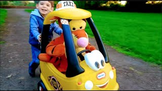 Playing at the Playground with Cozy Coupe Taxi Cab