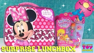 Disney Minnie Mouse Surprise Lunchbox Opening Shopkins Num Noms | PSToyReviews