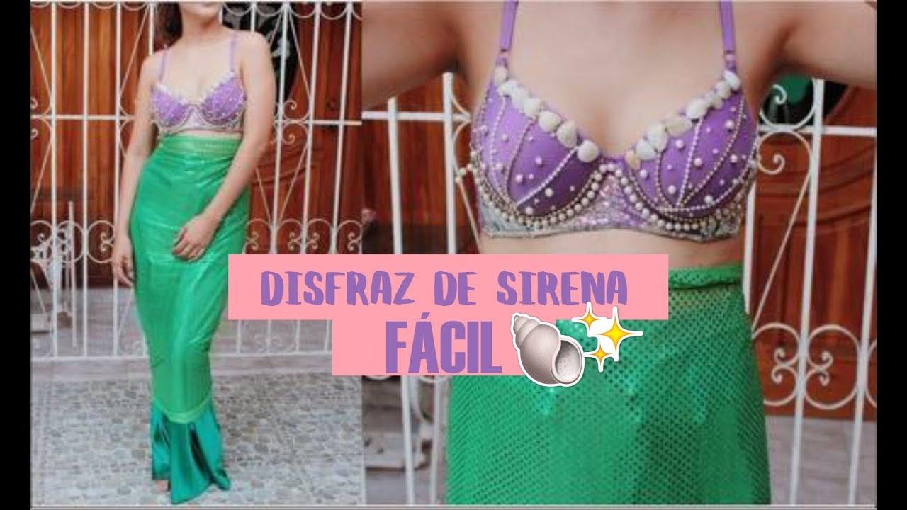 Disfraz De Sirena Sin Coser En 30 Min Angy Youtube