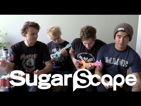 5SOS play She's Kinda Hot on tiny children's instruments