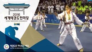2016세계태권도한마당 - 국내 태권체조 주니어Ⅰ 결선1위