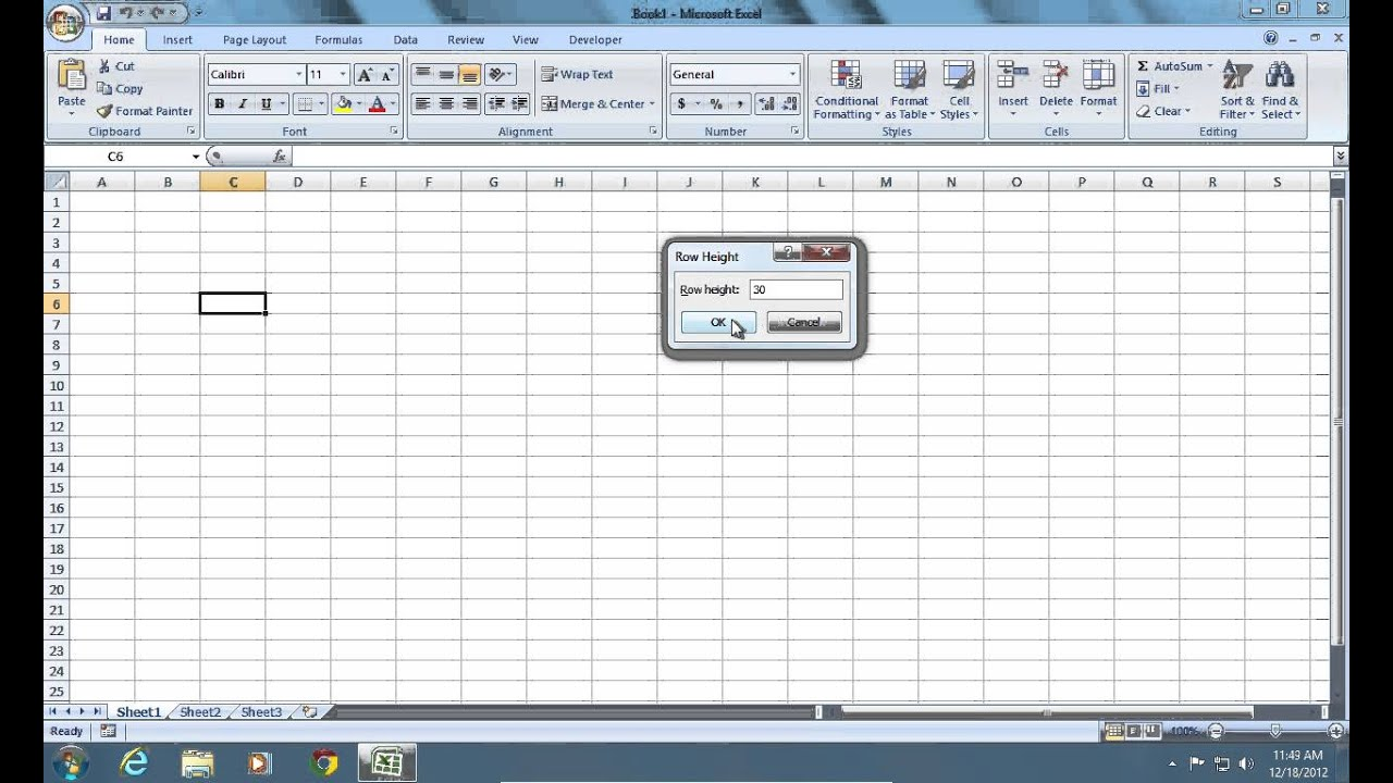 excel 2010 cell size in cm how to change default row