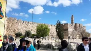 エルサレム ヤッフォ門とダビデの塔