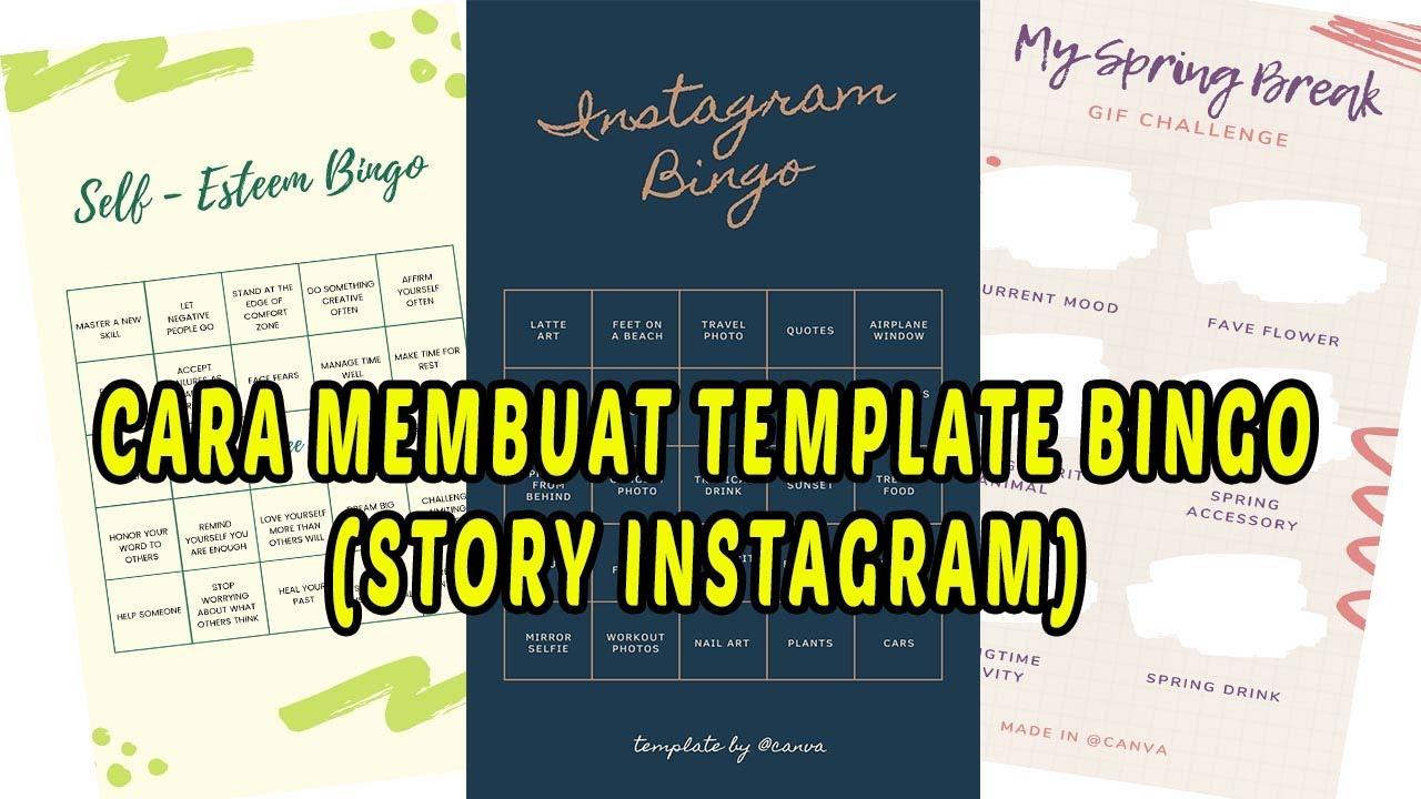 cara membuat template bingo story