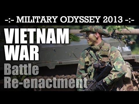 Vietnam War Battle Reenactment WHAT A DEBUT DISPLAY! Military Odyssey 2013 | HD Video